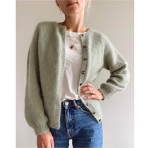 Novice cardigan - mohair edition - PetiteKnit<br>Str. XS-5XL