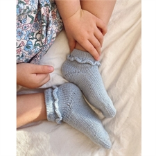 Ruffle socks junior - PetiteKnit<br>Str. 20-35